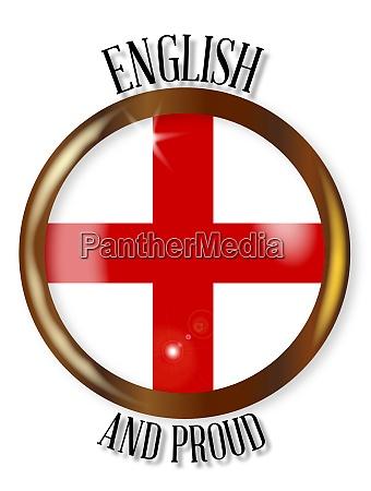 englisch stolz flagge button