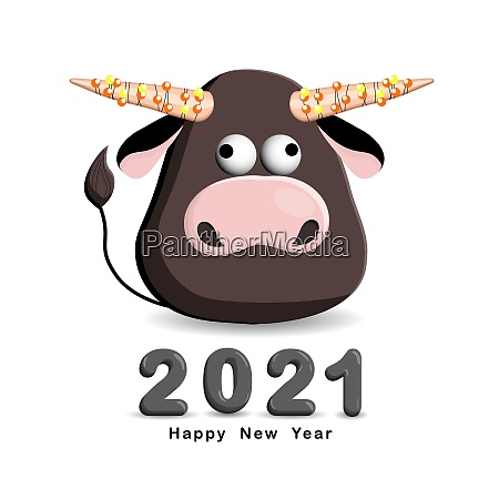 bull, isolated, on, a, white, background. - 28948231