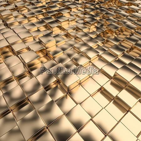 geometrischen hintergrund mit goldfarbenen mosaikwuerfeln
