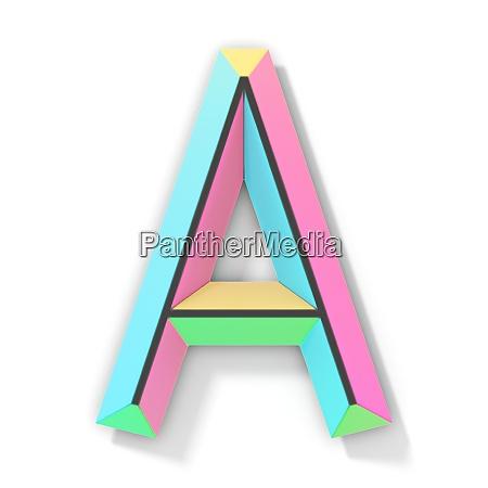 neon farbe helle schrift buchstabe a