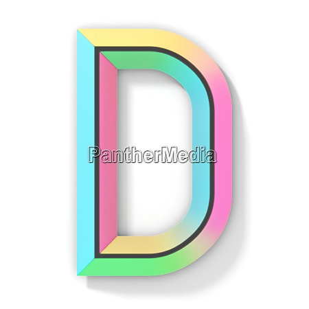 neon farbe helle schrift buchstabe d
