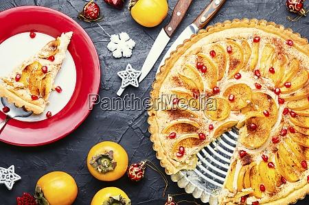 weihnachten persimmon kuchen