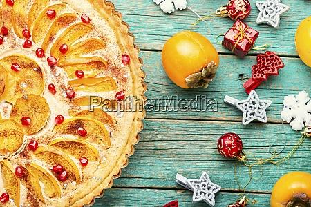 weihnachten, persimmon, kuchen - 28955637