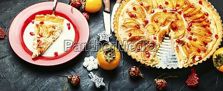 weihnachten, persimmon, kuchen - 28955639