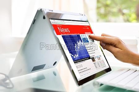 reading news website oder elektronische zeitung