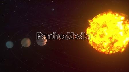3d rendering des kosmischen hintergrunds modell