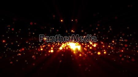 3d rendering goldene partikel schimmern und