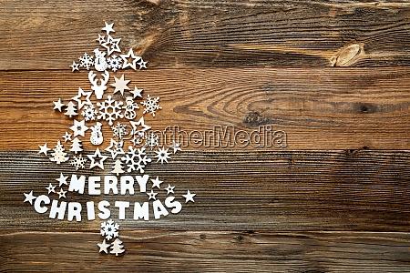 weihnachtsbaum weisse dekoration ornament kopierraum