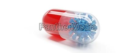 medikamente der antiviralen kapsel zur behandlung