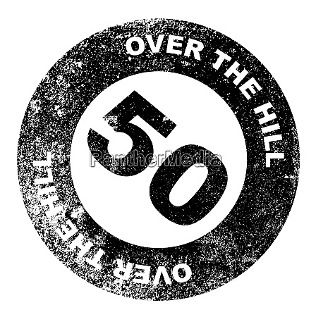 over the hill 50 stamp