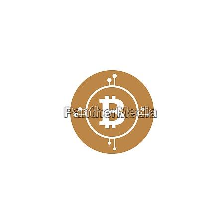 letter b crypto muenze symbol design