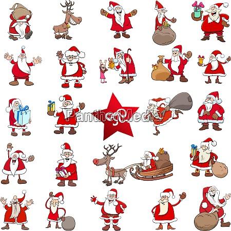 weihnachten zeichentrickfiguren grosses set