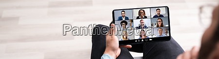 webinar chat fuer business video konferenz