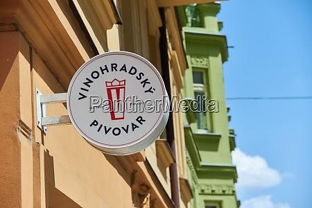 logo der vinohrady brauerei
