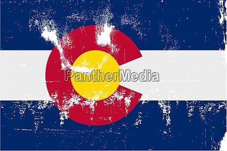 colorado state flag grunge