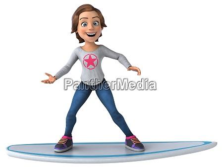 spass 3d cartoon teenager maedchen