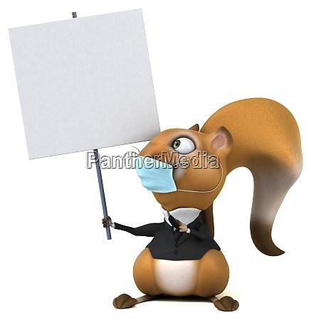 spass 3d cartoon eichhoernchen mit einer