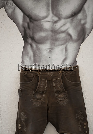 man, in, traditional, leather, pants - 28995250