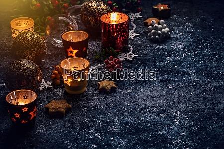 weihnachtszeit und hintergrund
