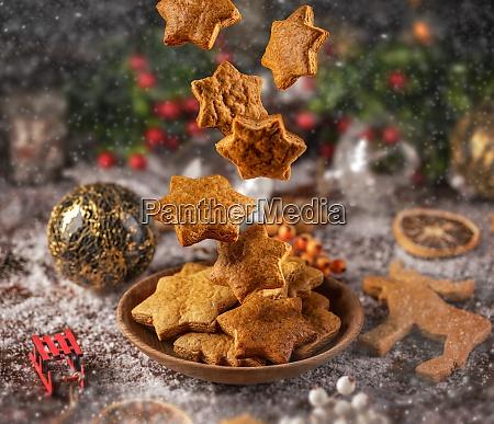fallende weihnachts lebkuchen