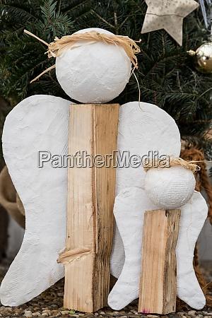 hausgemachte weihnachtsengel dekoration