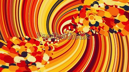 verdrehtes abstraktes element aus farbigen linien