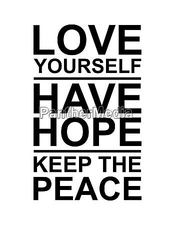 liebe hoffnung und frieden