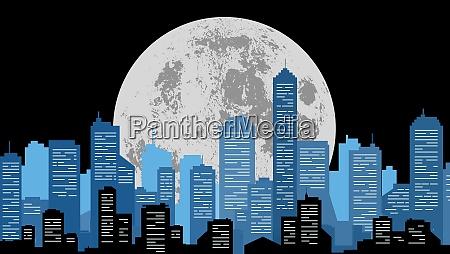mondlicht stadtbild