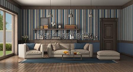 wohnzimmer im klassischen stil mit modernem