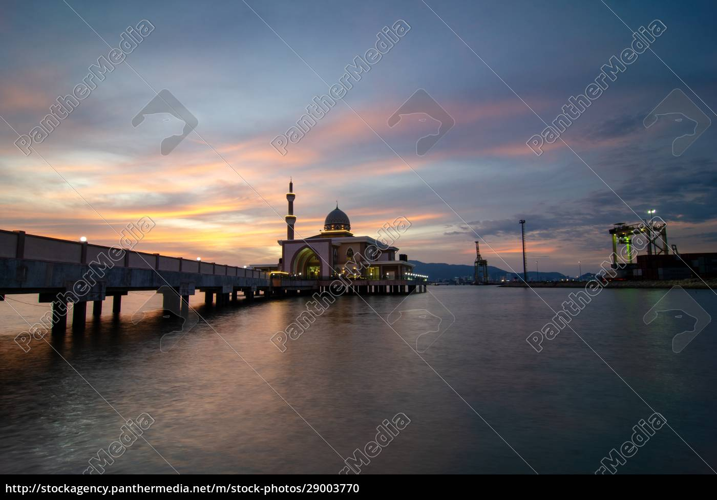 butterworth, , malaysia, floating, mosque, with, dramatic - 29003770