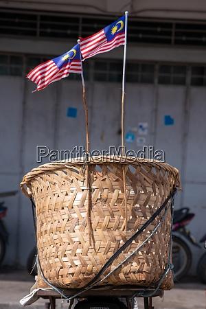 two, malaysia, flags, hang, at, basket - 29003787