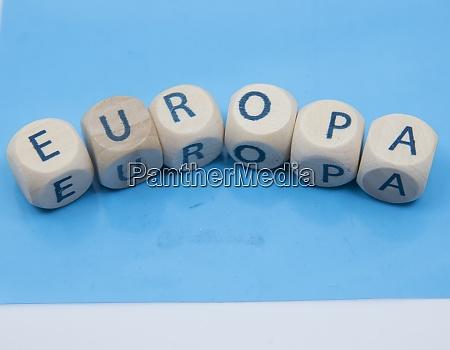 europa oder europa symbol fuer die