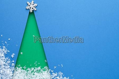 kreatives minimal art konzept fuer weihnachten