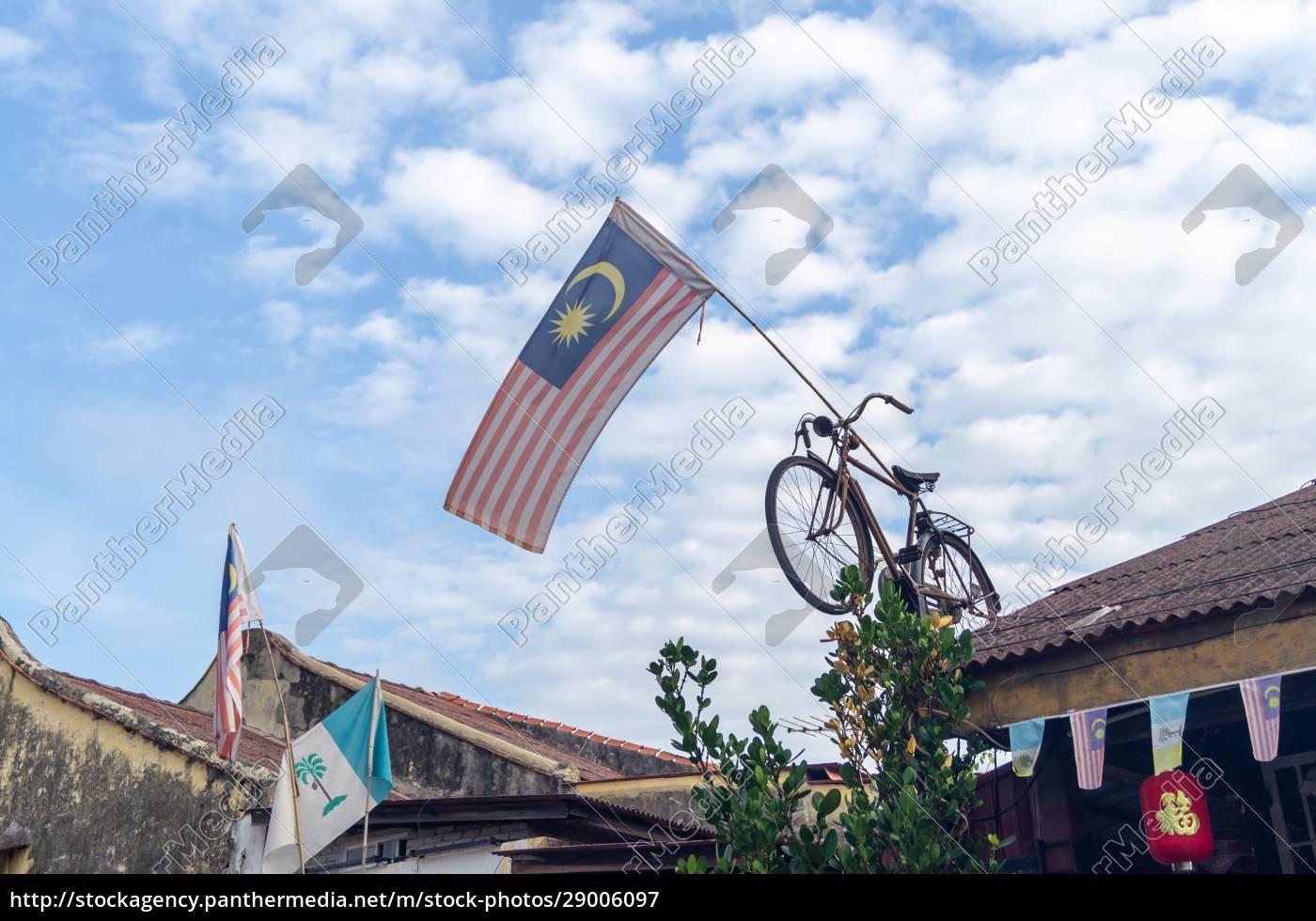 malaysia, flag, and, penang, state, flag - 29006097