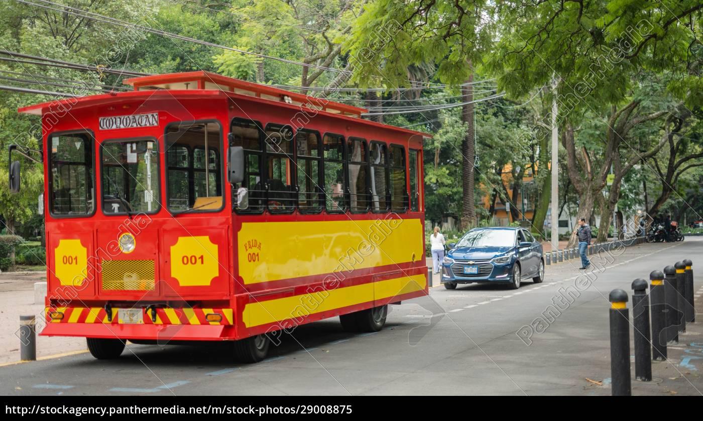 roter, und, gelber, trolleywagen, auf, den - 29008875
