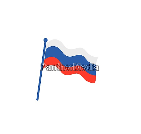 russische flagge symbol logo vektor