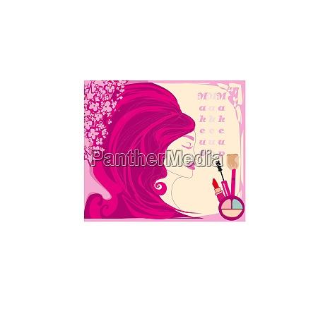 make up maedchen abstrakte feminine