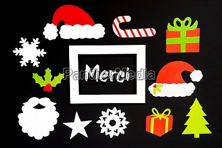 rahmen weihnachtsdekoration zubehoer merci bedeutet danke