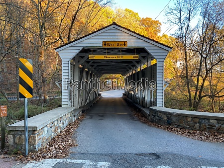 die knox covered bridge an einem