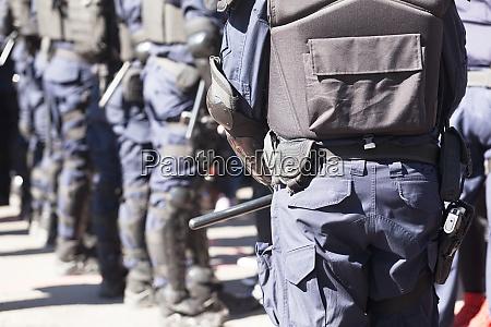 bereitschaftspolizei im einsatz