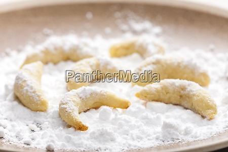 stillleben von weihnachts vanille keksen