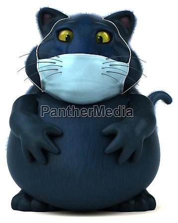 spass 3d illustration einer katze mit