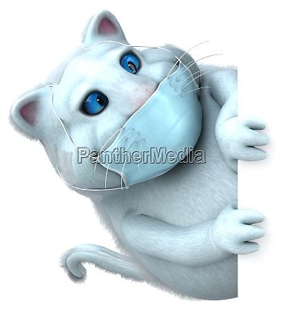 spass 3d cartoon katze mit einer
