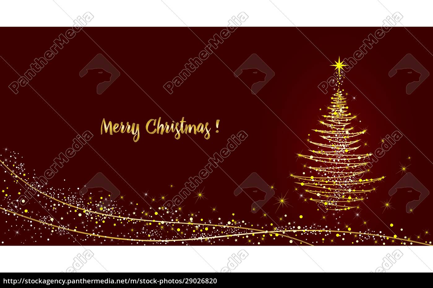 greeting, card, christmas, tree, shining, with - 29026820