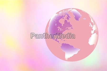 globus auf pastellhintergrund