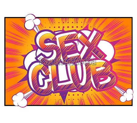 sex club comic buch stil cartoon