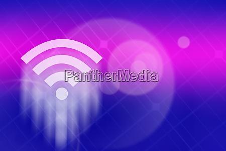 wifi symbol vor farbigem hintergrund