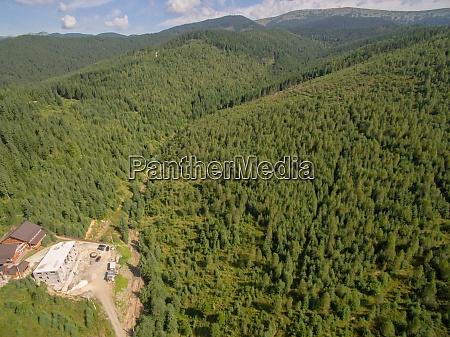 grüne, berge., luftdrohne, foto, von, karpatian - 29034720