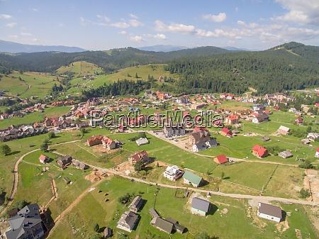 große, grüne, berge., luftaufnahme, von, village - 29034718