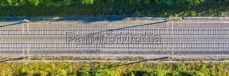 bahngleise gleislinie bahn bahn zug luftaufnahme